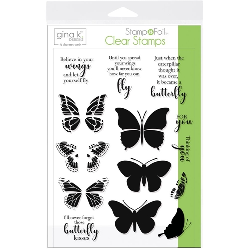 Therm O Web Gina K Designs BUTTERFLY KISSES Clear Stamps 18078 Preview Image
