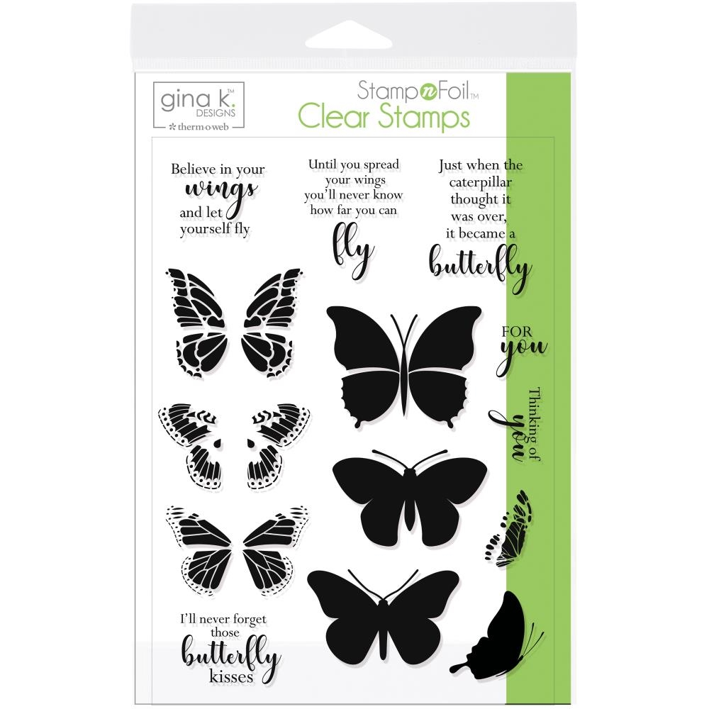 Therm O Web Gina K Designs BUTTERFLY KISSES Clear Stamps 18078 zoom image