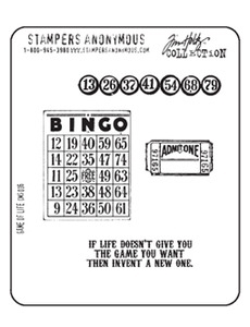 Tim Holtz Cling Rubber Stamps GAME OF LIFE Stampers Anonymous Preview Image