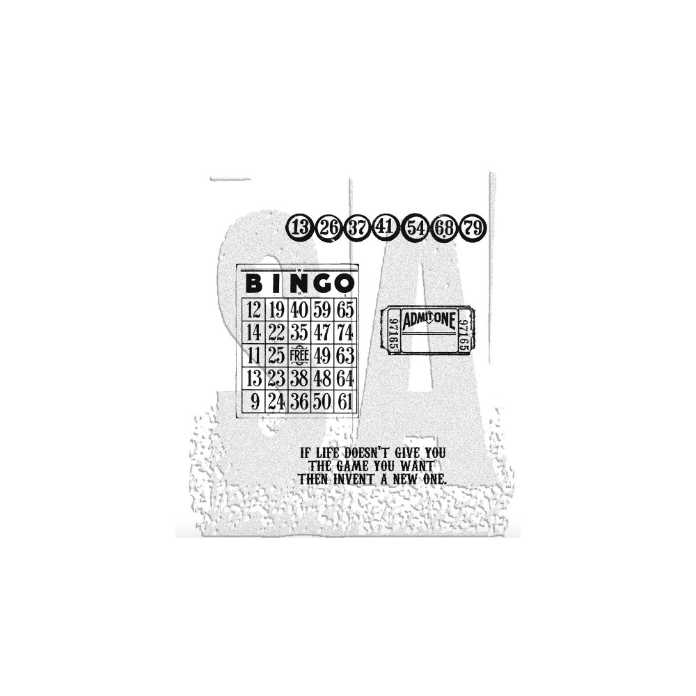 Tim Holtz Cling Rubber Stamps GAME OF LIFE CMS036 zoom image