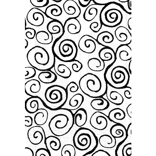 Tim Holtz Cling Rubber ATC Stamp SWIRLS COM012 Preview Image