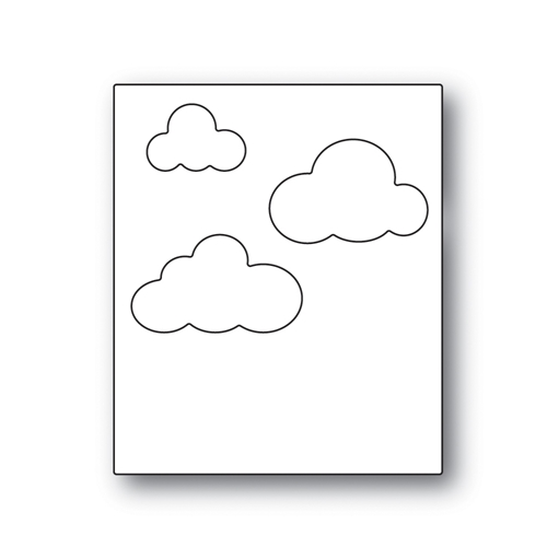 Simon Says Stamp PICTURE BOOK SKY BACKGROUND Wafer Dies s519 Best Days Preview Image