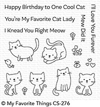 My Favorite Things LOVE YOU FUREVER Clear Stamps CS276*