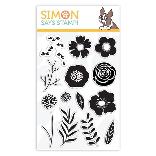 Simon Says Clear Stamps BOLD FLOWERS sss101811 Best Days Preview Image