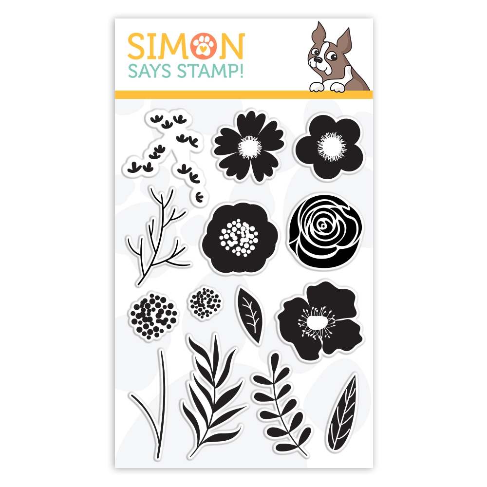Simon Says Clear Stamps BOLD FLOWERS sss101811 Best Days zoom image