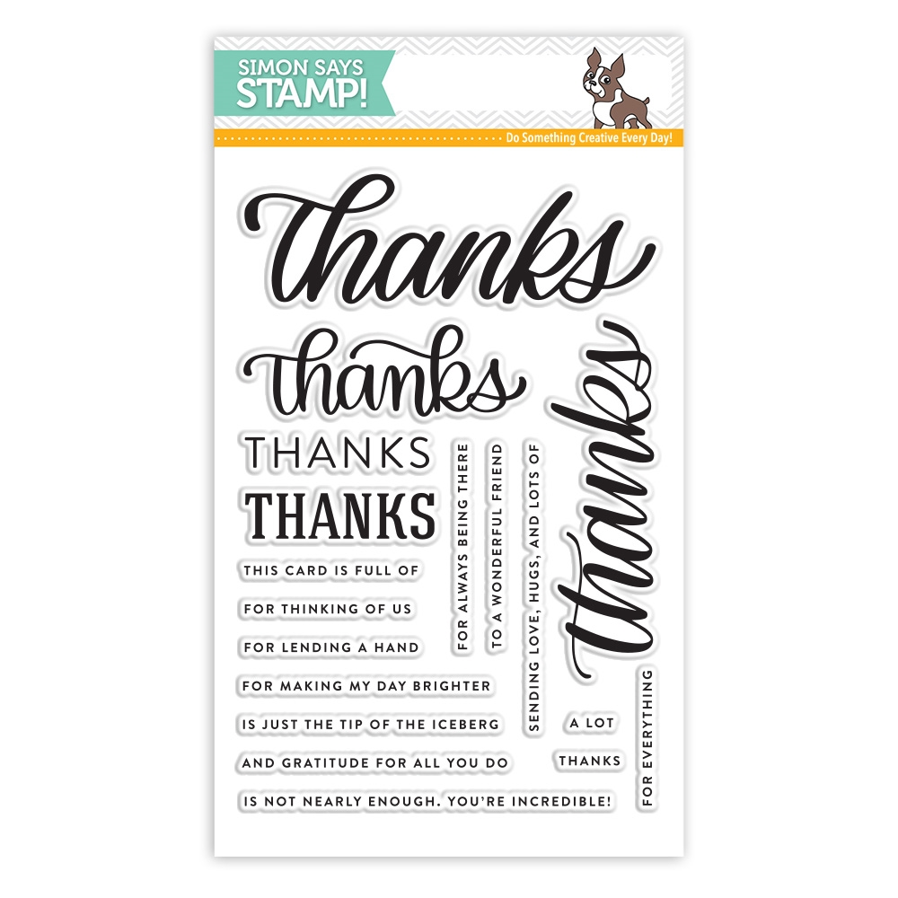 Simon Says Clear Stamps BIG THANKS WORDS sss101816 Best Days zoom image