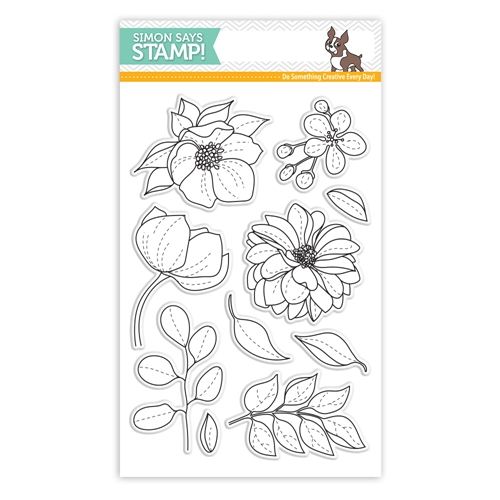 Simon Says Clear Stamps EVEN MORE Beautiful FLOWERS sss101814 Best Days Preview Image