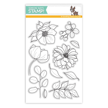 Simon Says Clear Stamps EVEN MORE Beautiful FLOWERS sss101814 Best Days