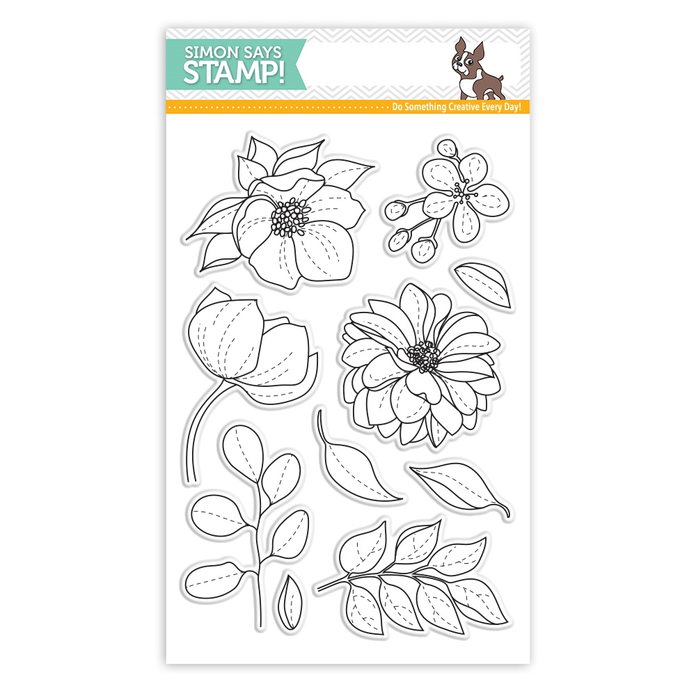Simon Says Clear Stamps EVEN MORE Beautiful FLOWERS sss101814 Best Days zoom image