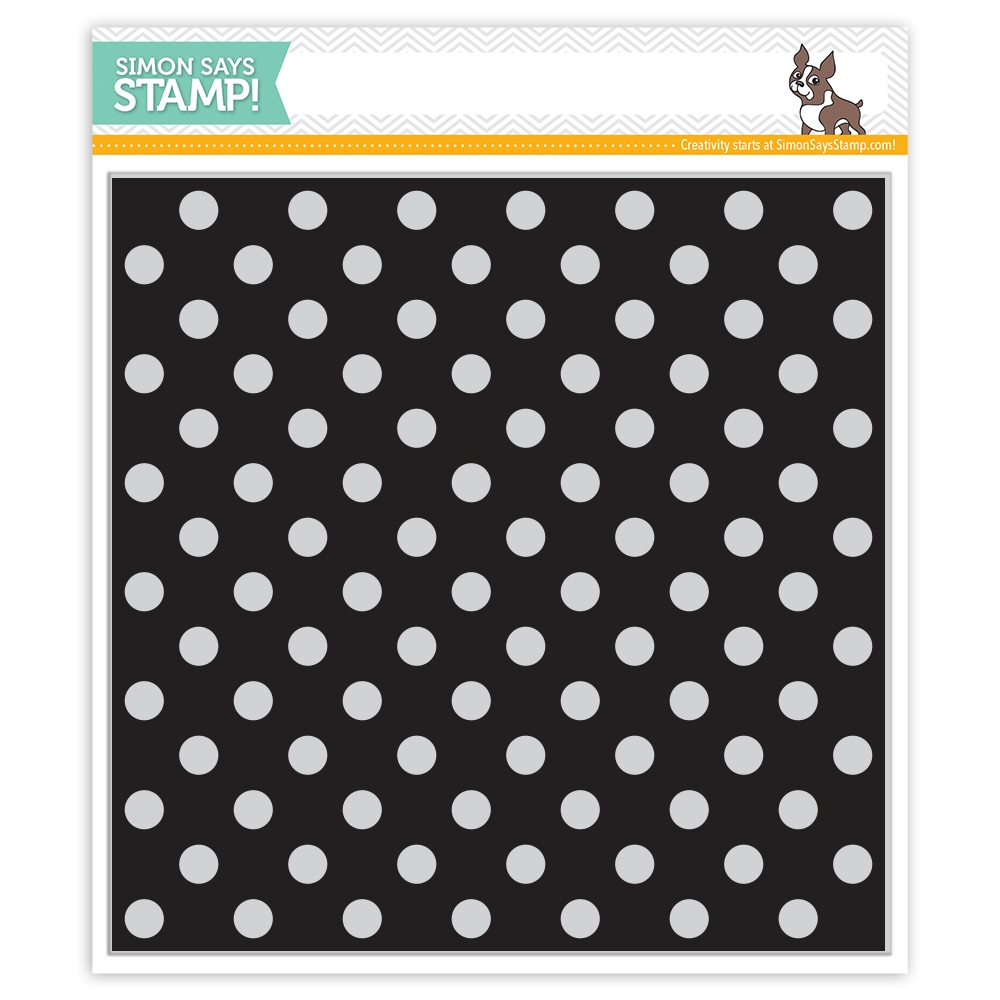 Simon Says Cling Rubber Stamp REVERSE POLKA Background sss101813 Best Days zoom image