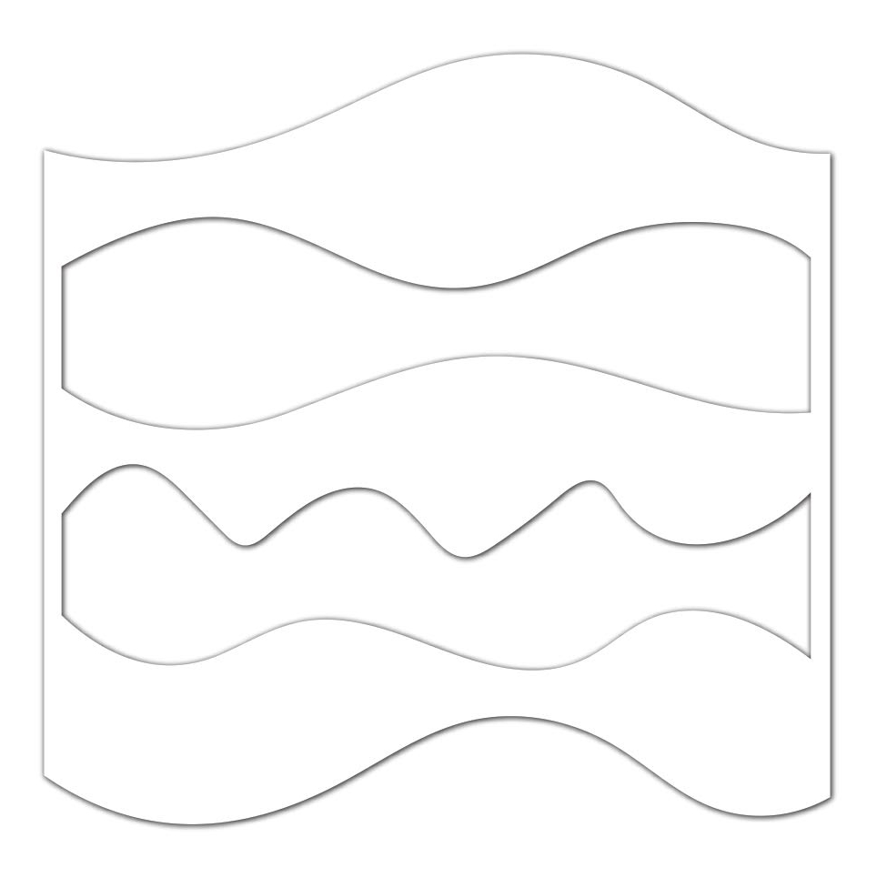 Simon Says Stamp Stencil WAVES AND HILLS ssst121414 Best Days zoom image