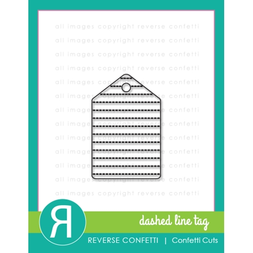 Reverse Confetti Cuts DASHED LINE TAG Die  Preview Image