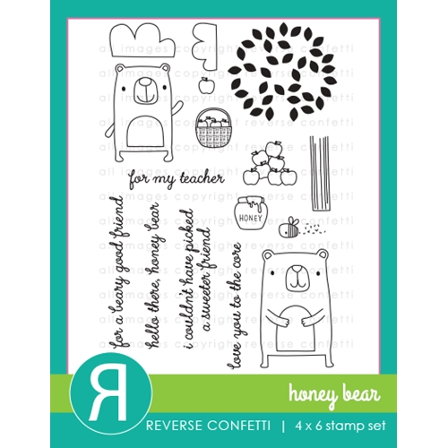 Reverse Confetti HONEY BEAR Clear Stamp Set* Preview Image