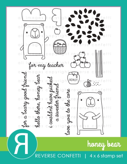 Reverse Confetti HONEY BEAR Clear Stamp Set* zoom image
