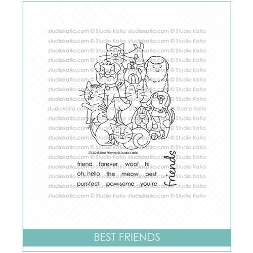 Studio Katia BEST FRIENDS Clear Stamps stks048 Preview Image