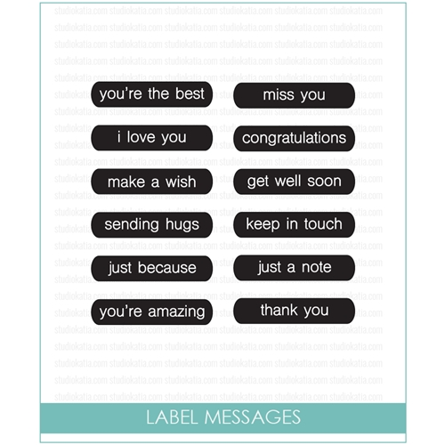 Studio Katia Label Messages Clear Stamp Set