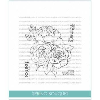 Studio Katia SPRING BOUQUET Clear Stamps stks038*
