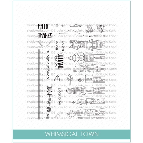 Studio Katia WHIMSICAL TOWN Clear Stamps stks027* Preview Image