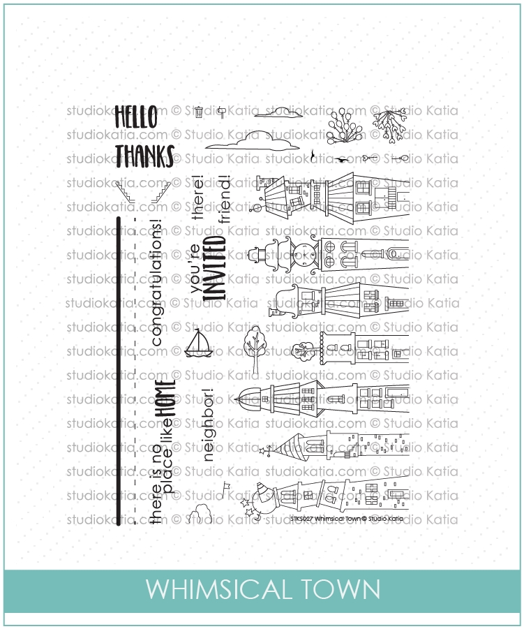 Studio Katia WHIMSICAL TOWN Clear Stamps stks027* zoom image