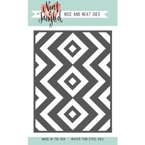 Neat and Tangled SQUARE AND CHEVRONS COVER PLATE DIE NAT363* Preview Image