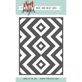 Neat and Tangled SQUARE AND CHEVRONS COVER PLATE DIE NAT363*
