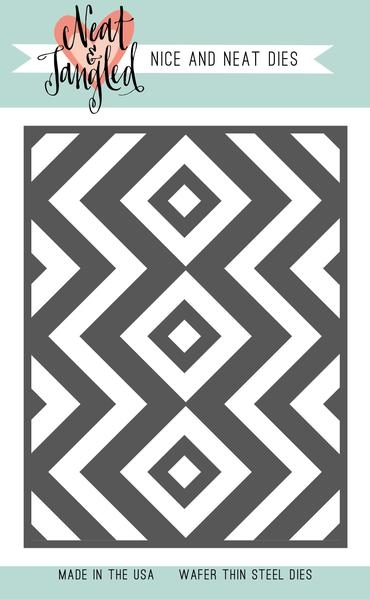Neat and Tangled SQUARE AND CHEVRONS COVER PLATE DIE NAT363* zoom image