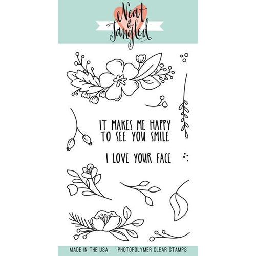 Neat and Tangled FRIENDLY FLORALS Clear Stamp Set NAT356 Preview Image