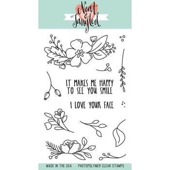 Neat and Tangled FRIENDLY FLORALS Clear Stamp Set NAT356