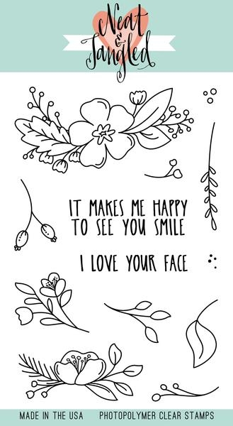 Neat and Tangled FRIENDLY FLORALS Clear Stamp Set NAT356 zoom image