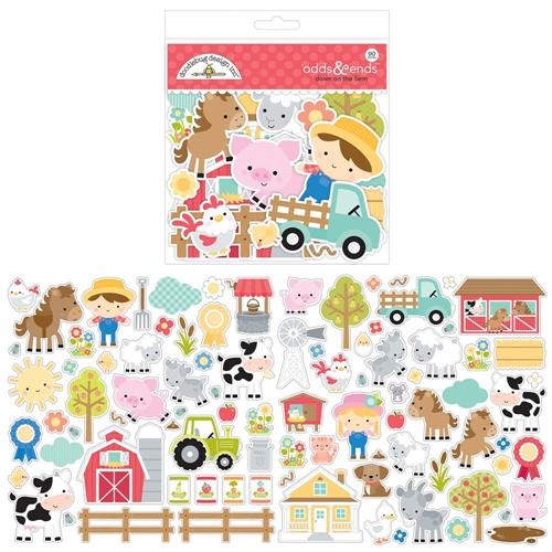 Doodlebug DOWN ON THE FARM Odds and Ends Die Cut Shapes 5905 Preview Image