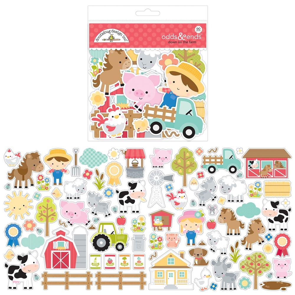 Doodlebug DOWN ON THE FARM Odds and Ends Die Cut Shapes 5905 zoom image