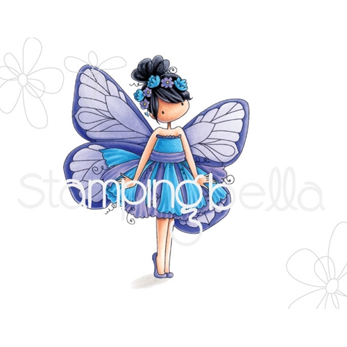 Stamping Bella Cling Stamp TINIE TOWNIE BLANCH THE BUTTERFLY Rubber UM eb664 Preview Image