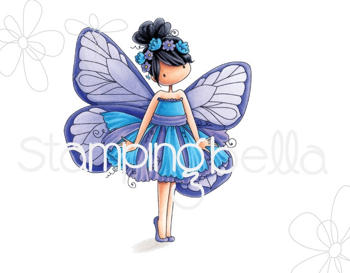 Stamping Bella Cling Stamp TINIE TOWNIE BLANCH THE BUTTERFLY Rubber UM eb664 zoom image