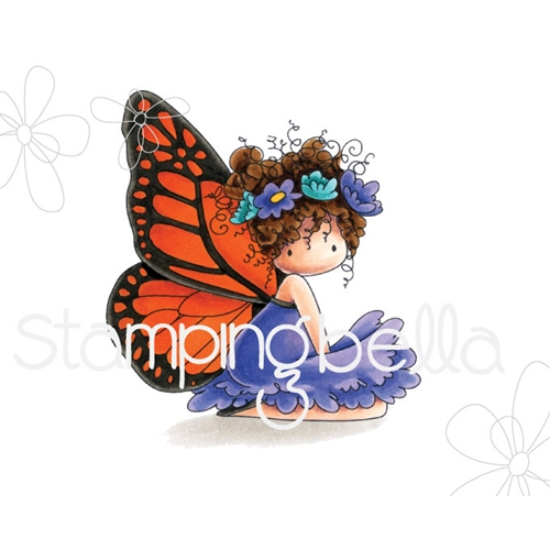 Stamping Bella Cling Stamp TINIE TOWNIE BESS THE BUTTERFLY Rubber UM eb665 Preview Image