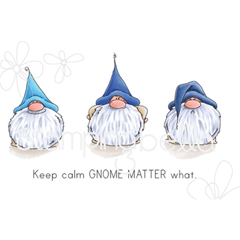Stamping Bella Cling Stamp THE GNOMES HAVE FEELINGS TOO Rubber UM eb656