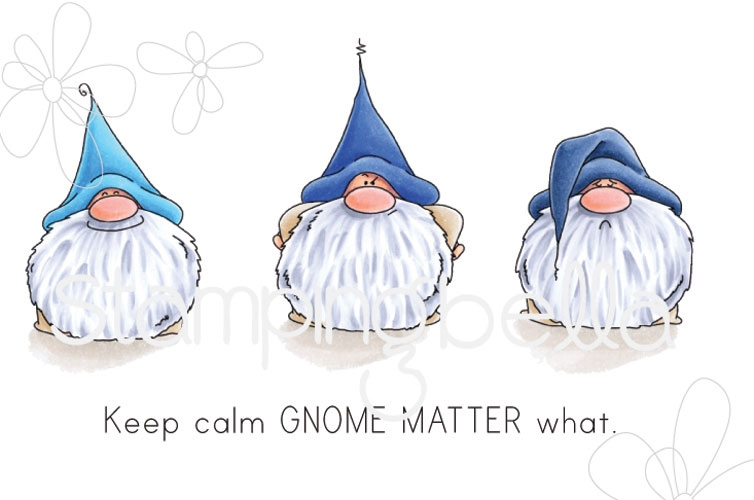 Stamping Bella Cling Stamp THE GNOMES HAVE FEELINGS TOO Rubber UM eb656 zoom image