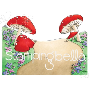 Stamping Bella Cling Stamp GNOME BACKDROP Rubber UM eb673