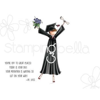 Stamping Bella Cling Stamp UPTOWN GIRL GRACE THE GRADUATE Rubber UM eb672