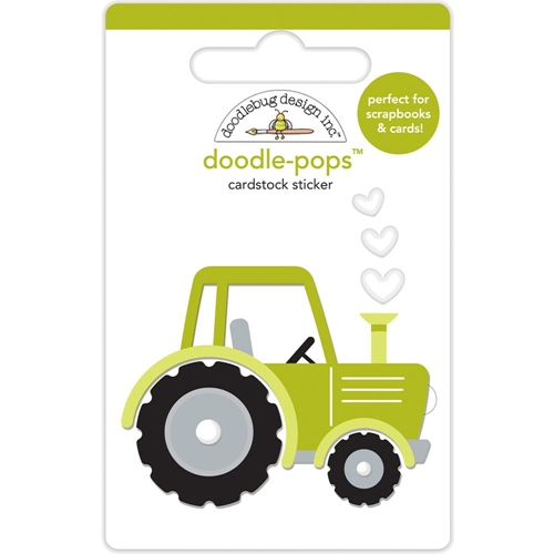 Doodlebug TRUSTY TRACTOR Doodle Pops 3D Stickers Down on the Farm 5856 Preview Image