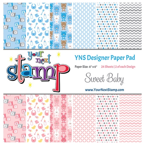Your Next Stamp SWEET BABY 6X6 Paper Pack ynspp021 Preview Image
