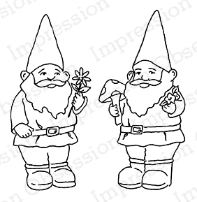 Impression Obsession Cling Stamp GNOMES C20463 Preview Image
