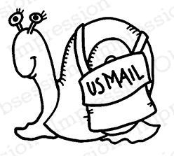 Impression Obsession Cling Stamp SNAIL MAIL C21049*