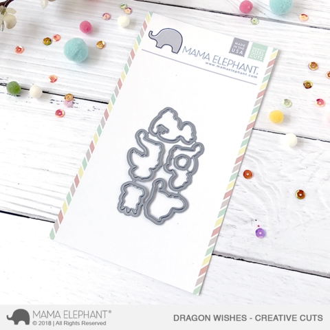Mama Elephant DRAGON WISHES Creative Cuts Steel Dies Preview Image