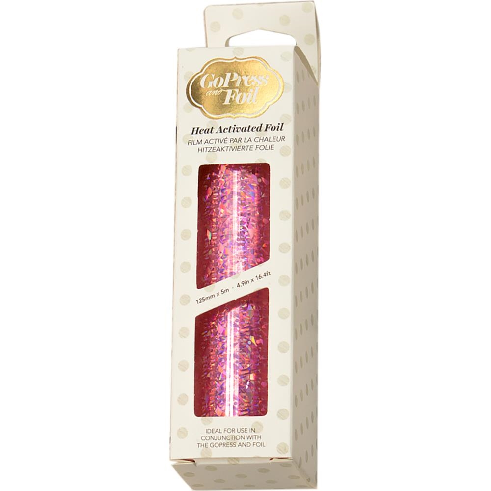 Couture Creations IRIDESCENT FLAKES PINK Heat Activated Foil co726048 zoom image