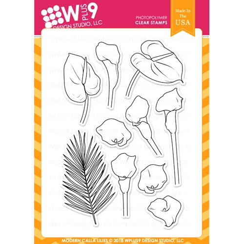 Wplus9 MODERN CALLA LILIES Clear Stamps cl-wp9mcl Preview Image