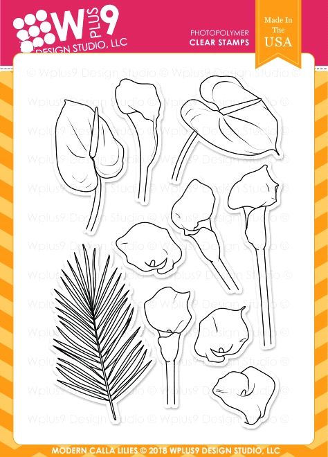 Wplus9 MODERN CALLA LILIES Clear Stamps cl-wp9mcl zoom image