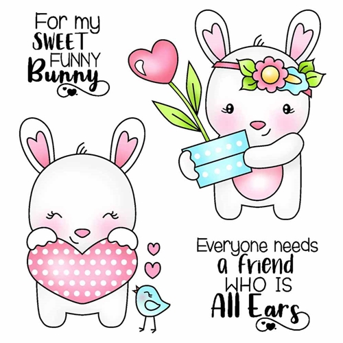 Darcie's FUNNY BUNNY Clear Stamp Set pol384 Preview Image