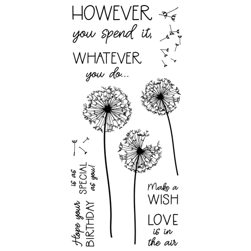 Inky Antics DANDELION BIRTHDAY Clear Stamp Set 11401lc Preview Image