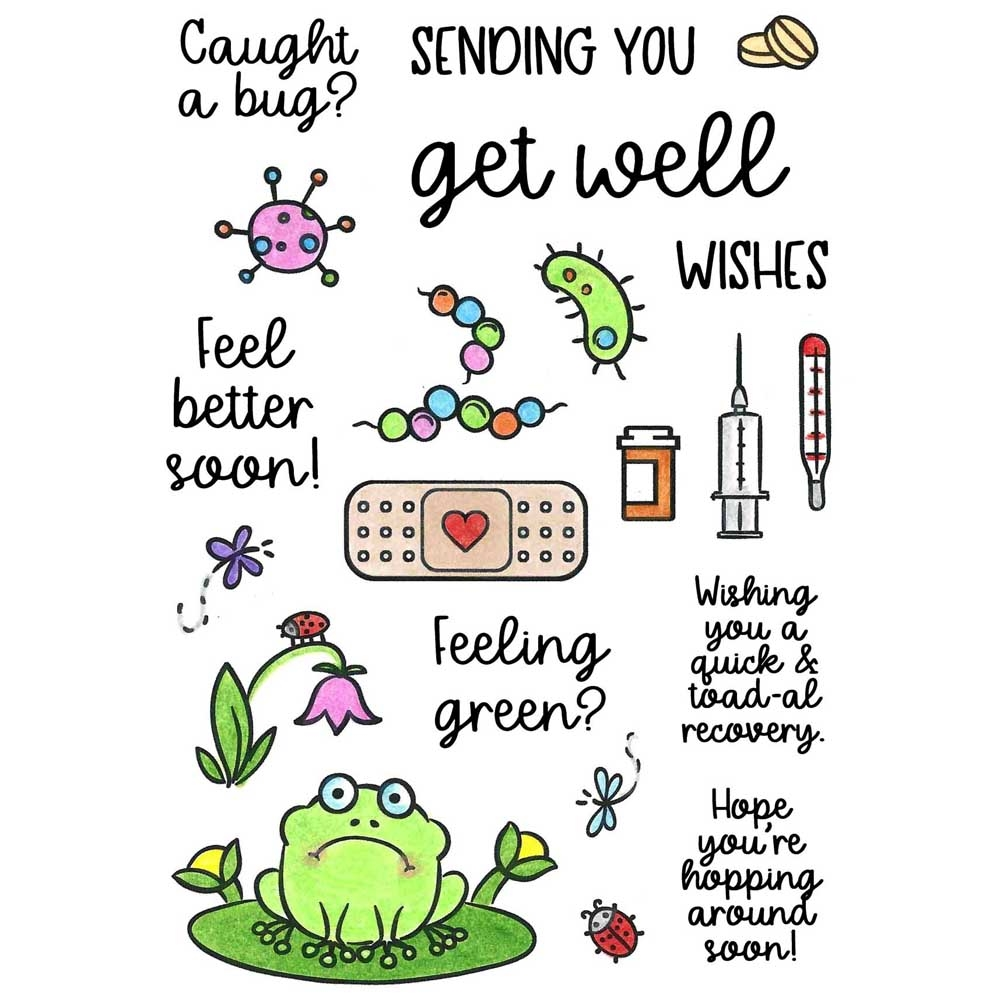 Inky Antics GET WELL Clear Stamp Set 11403mc zoom image