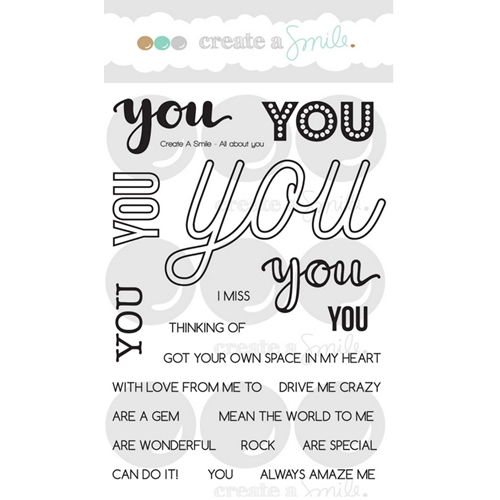 Create A Smile ALL ABOUT YOU Clear Stamps clcs71* Preview Image